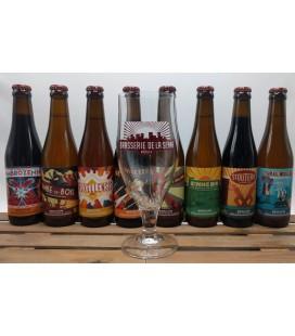 De La Senne Brewery Pack (8x33cl) + De La Senne Glass
