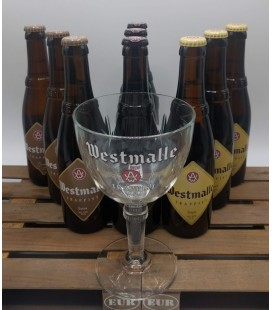Westmalle Trappist Brewery Pack (9x33cl) + FREE Westmalle Trappist Glass