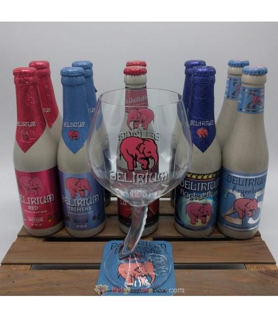Delirium Brewery Pack (2x5) + FREE Delirium Glass
