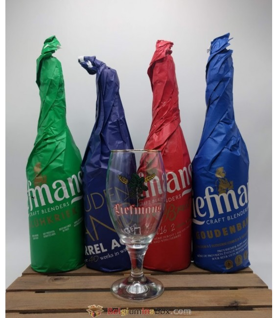 Craft Blenders Liefmans Brewery Pack (4x75cl) + FREE Liefmans Vintage Glass