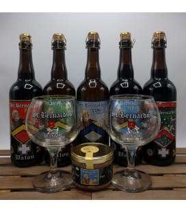 St Bernardus Brewery Pack (5x75cl) + 2 Glasses + FREE St Bernardus Abt 12 Paté