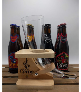 La Corne Brewery Pack (8x33cl) + La Corne (horn) Glass 33 cl