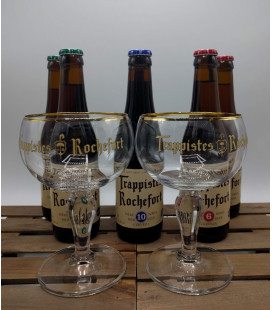Rochefort Brewery Pack (2x3) + 2 x Rochefort Trappist Glass