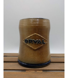 Orval Trappist Mug in stone (light brown) 33 cl