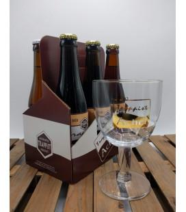 Achel Trappist Brewery Pack (2x3x33cl) + Achel Trappist (Golden Rim) Glass