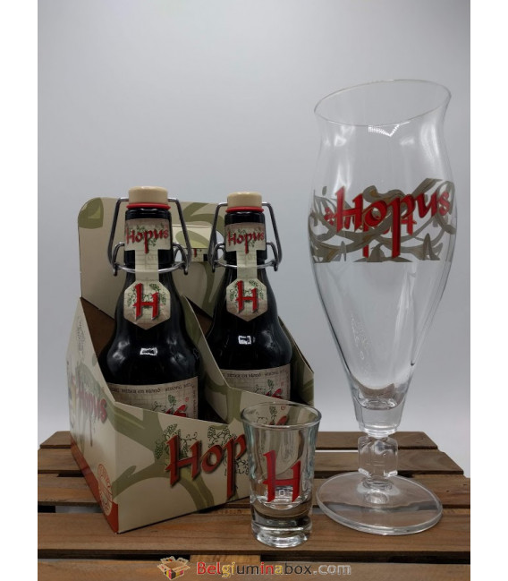 Hopus 4-Pack + Hopus Glass Set