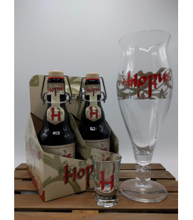 Hopus 4-Pack + Hopus Glass
