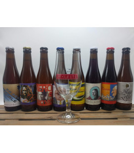 De Leite Brewery Pack (8 x 33 cl) + FREE De Leite Glass