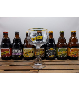 Kasteel Brewery Pack (7x33cl) + FREE Kasteel Glass