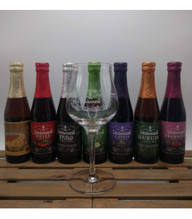 Lindemans Brewery Pack (7x25) + Lindemans Fruit (teku style) Glass