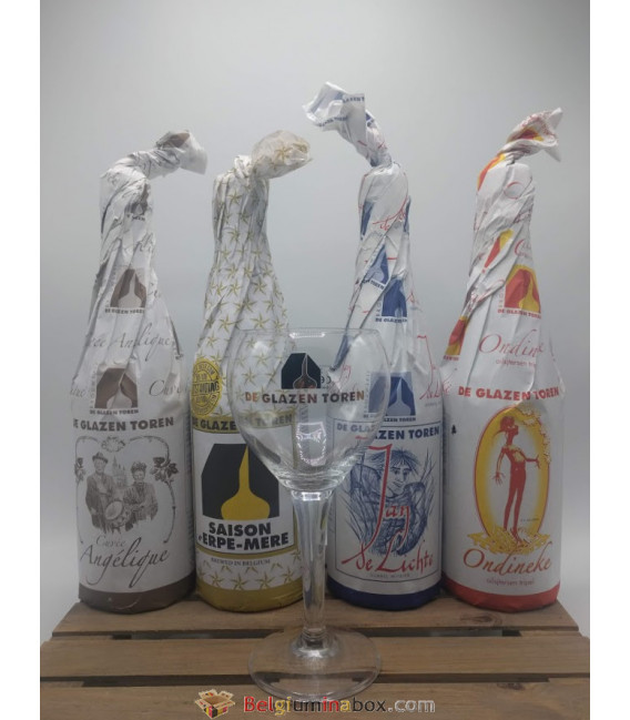De Glazen Toren Brewery Pack (5x75cl) + FREE De Glazen Toren Glass