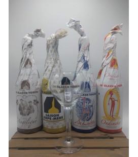 De Glazen Toren Brewery Pack (4x75cl) + FREE De Glazen Toren Glass