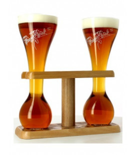 Kwak Wooden Stand for 2 Glasses 33 cl