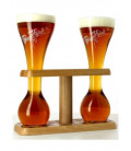 Kwak Wooden Stand with 2 Kwak Glasses of 33 cl