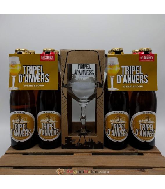 De Koninck Tripel d'Anvers 8-Pack + FREE Tripel d'Anvers Glass