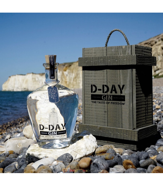 D-Day Gin in Ammunition Box 70 cl