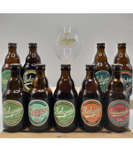 Belgoo Brewery Pack (9x33cl) + FREE Belgoo Glass