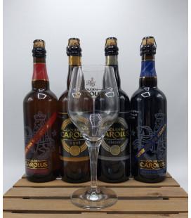 Gouden Carolus Brewery Pack (4x75cl) + FREE Gouden Carolus Glass (large)