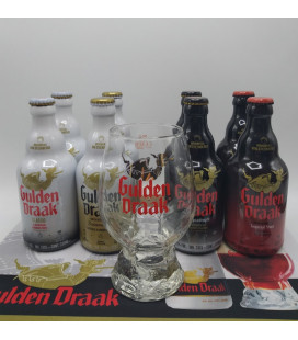 Gulden Draak Brewery Pack (8x33cl) + Gulden Draak Dragon's Egg Glass + FREE Barmat