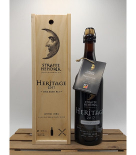 Straffe Hendrik Quadrupel Oak Aged Heritage 2017 75 cl in wooden box