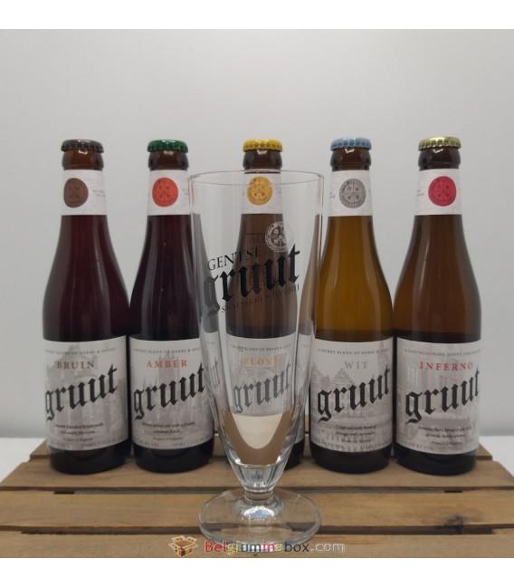Gruut Brewery Pack (5x33l) + FREE Gruut Glass