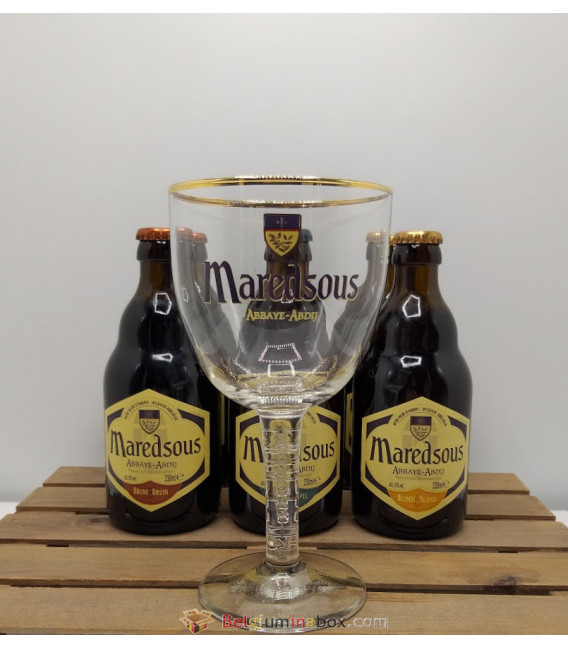 Maredsous Brewery Pack (6x33cl) + FREE Maredsous Glass