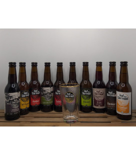 Hof ten Dormaal Brewery Pack (10x33cl) + FREE Brewery Glass