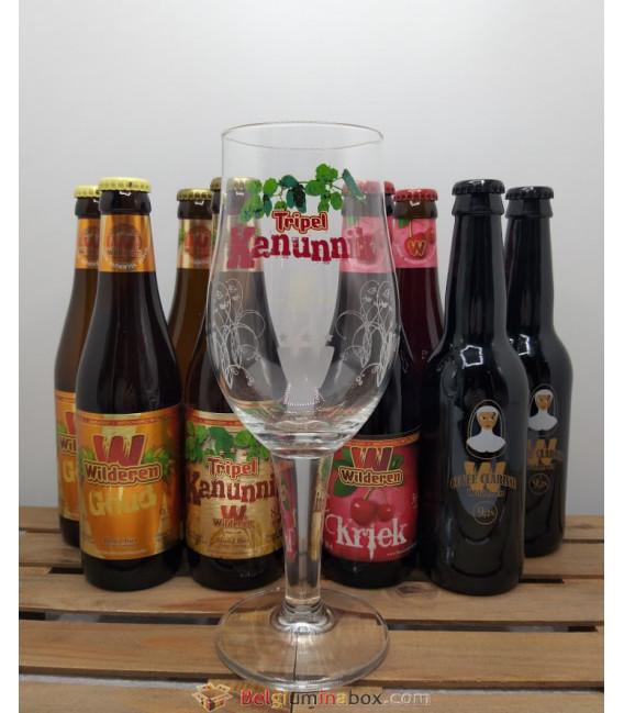 Wilderen Brewery Glass (8x33cl) + Wilderen Kanunnik Glass