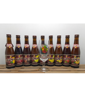 Chapeau Brewery Pack (9x25cl) + FREE Chapeau Glass