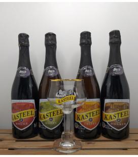 Kasteel Brewery Pack (4x75cl) + FREE Kasteel Glass