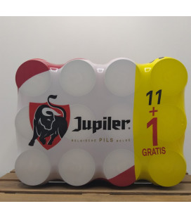 Jupiler 12-pack (11+1) of 33 cl Cans