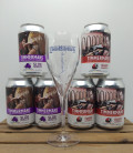 Timmermans Lambicus (2x3-pack Cans) + FREE Timmermans Fruit Glass