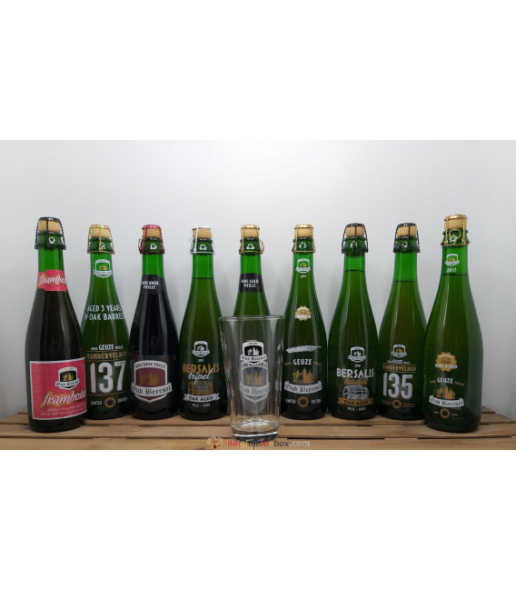 Oud Beersel Brewery Pack 9-pack (9x37.5cl) + FREE Glass