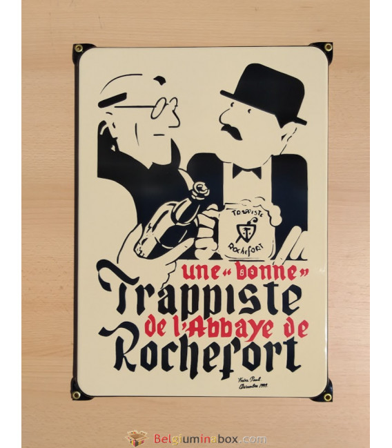 Trappiste Rochefort beer-sign in emaille