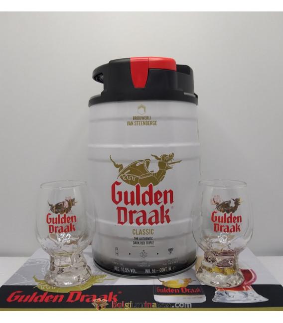 Gulden Draak Keg + 2 x Tasting Glasses + FREE Gulden Draak Barmat
