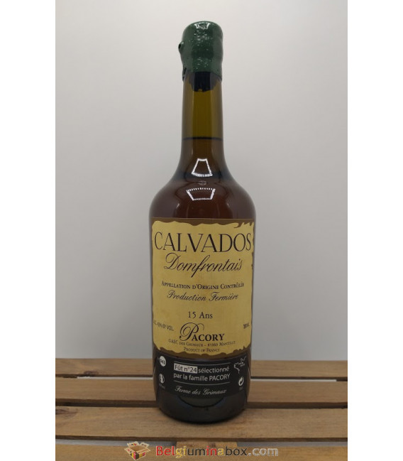 Pacory Calvados (Pears) Domfrontais 15 Ans 43% 70 cl
