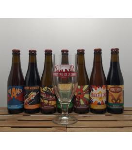 De La Senne Brewery Pack (7x33cl) + FREE De La Senne Glass