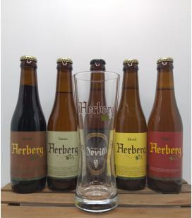 Den Herberg Brewery Pack (5x33cl) + FREE Den Herberg Glass