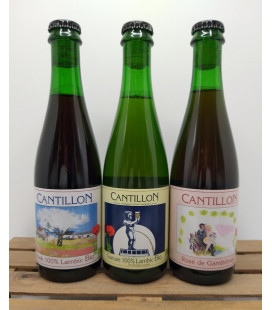 Cantillon 3-Pack (Gueuze-Kriek-Rosé) 3 x 37.5 cl