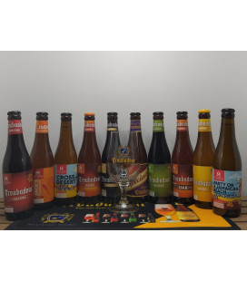 Troubadour Brewery Pack (10x33cl) + Troubadour Glass + FREE Barmat
