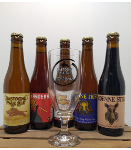 Ardenne Brewery Pack (5x33cl) + FREE Ardenne Glass