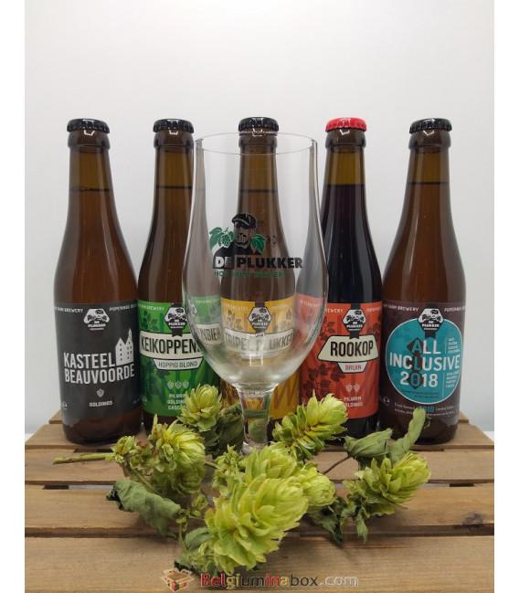 De Plukker Brewery Pack (5x33cl) + FREE De Plukker Glass