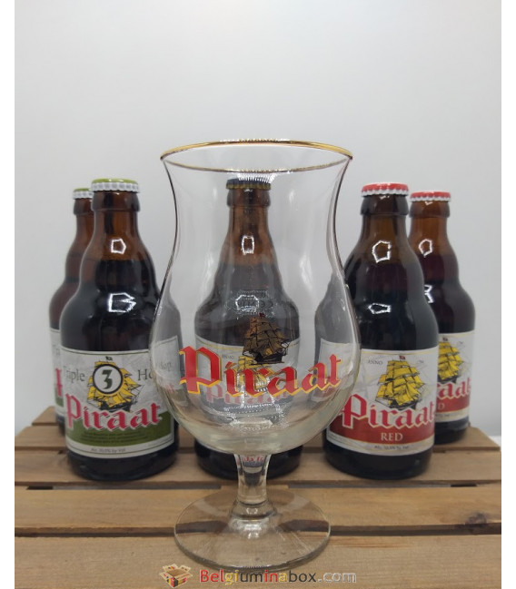 Piraat Brewery Pack (6x33cl) + FREE Piraat Glass