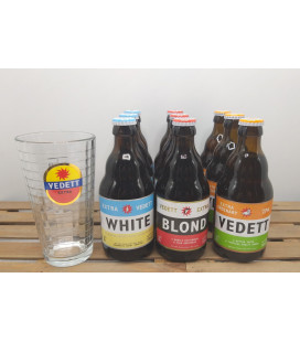 Vedett Extra Brewery Pack (9x33cl) FREE Vedett Extra Glass