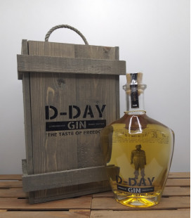 D-Day Gin Gold Edition Oak Aged Batch in Ammunition Box 70 cl