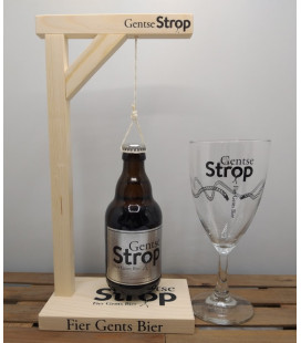 Gentse Strop 33 cl Bottle + Glass + Gallows