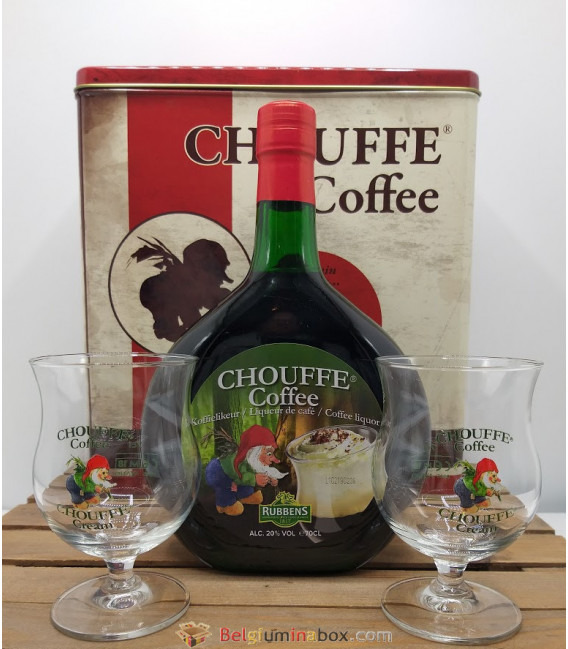 Chouffe Coffee 70 cl + 2 Chouffe Coffee Glasses Gift Box