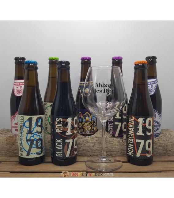 Abbaye des Rocs Brewery Pack (8x33cl) + FREE Des Rocs Glass