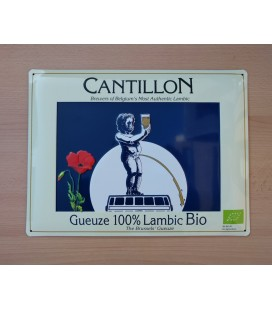 Cantillon Gueuze 100% Lambic Bio Beer Sign in tin metal