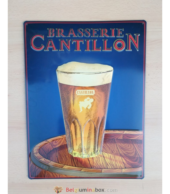 Brasserie Cantillon Beer Sign in tin metal